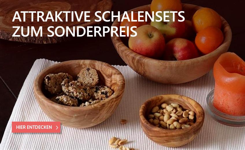 Olivenholz Schalen-Sets zum Sonderpreis