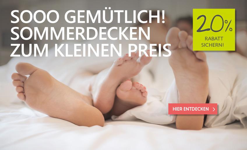 20% Rabatt auf Sommer-Bettdecken